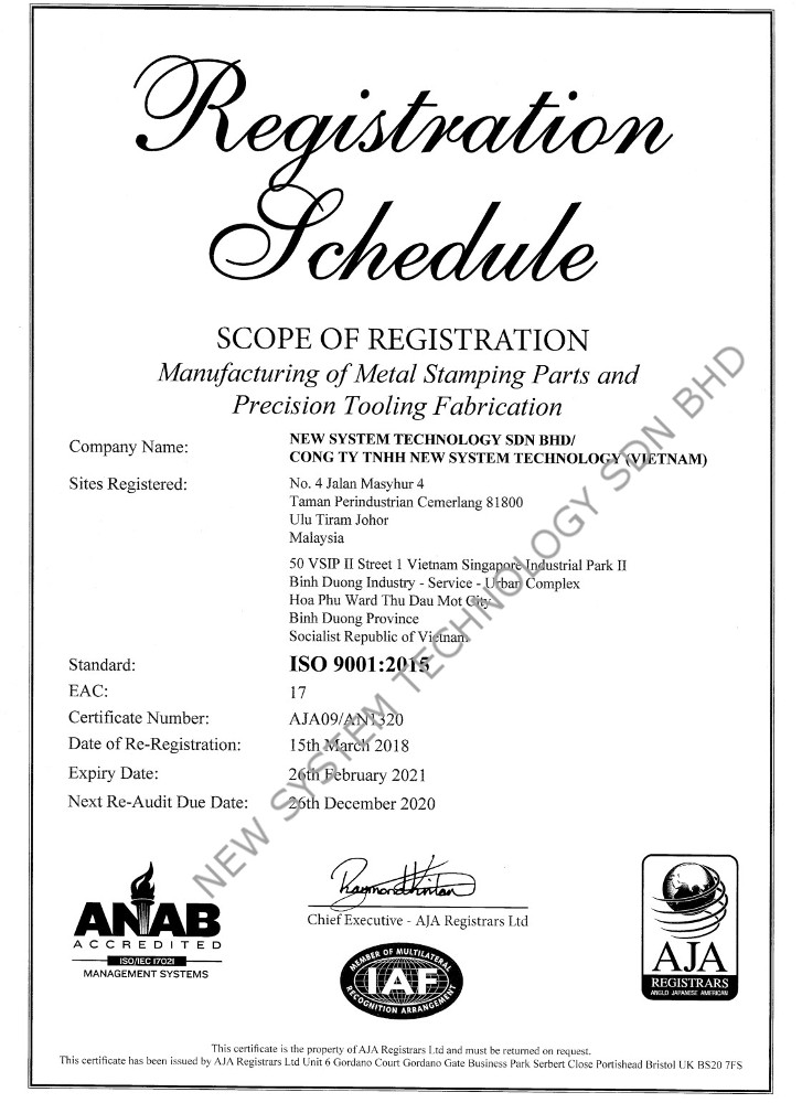 ISO 9001 2015 AN1320 NEW SYSTEM TECHNOLOGY SDN BHD 2